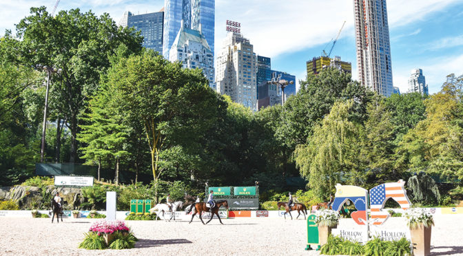 Rolex Central Park Horse Show Fourth Annual Event Impresses Behind  The Bright Lights Of New York City