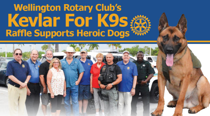 Wellington Rotary Club's Kevlar For K9s Raffle Supports Heroic Dogs